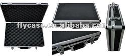 portable abs aluminum gun carrying case with foam insert - CE