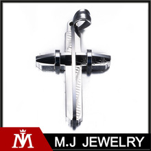 Hip hop Innovative design 316l Stainless Steel Jewelry Findings Wholesale Cross Pendant Bulk Sale MJ-P01176