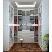 U shape space saving furniture bedroom wardrobe