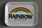Rainbow Print Square Melamine Food Carrying Tray