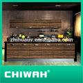 mogno madeira armáriosde cozinha 2014 alto brilho portas foshan china fábrica