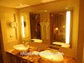 Luxo led espelho do banheiro, espelho do banheiro iluminado, dispositivo elétrico de iluminação para casa de banho espelho