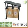 recyclable wood plastic composite wpc garden dustbin