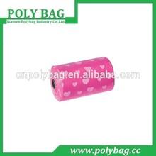 biodegradable dispenser pink dog poop bags for garbage