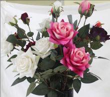 2014 Decoration Artificial Wedding Rose Flower /Fake Wedding Rose Flower