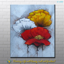 handmade paintings flowers famous artists from xiamen factory
