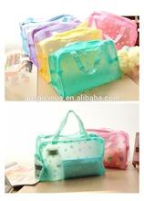 2014 fashion color plastic pvc shopping/beach bag