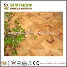 SYM-10 Beautiful Design Oak and Jarrah Parquet Wood Flooring