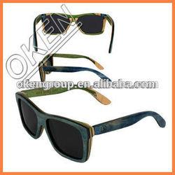 Incredibly Stylish Skateboard Wood Sunglasses