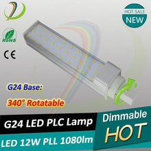 Dimmable LED Bulb GX23 G24 E27 12v led pl light g24 Downlight CRI>83,PF>0.95,CE ROHS
