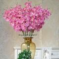 sj 2014 af044 atacado orquídea artificial flor de seda venda orquídea flores artificiais decoração home plástico fake orquídea