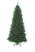 180cm prelit Canadian Tree with 124 Tips with Wood Base, Mini