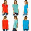 short sleeves wide neckline design of blouse fashionable 2013