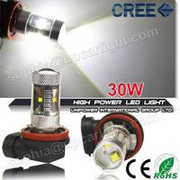Best seller 30W H4 H7 fog led lights,H8 H9 H10 H11 H16 9005 9006 led fog lamp,P13 PSX24 PSX26 PY24 led fog light