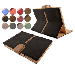 Business stand style Buckle Suede Leather Smart Flip Case Cover For New iPad Air/iPad Mini 2
