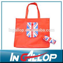 Polyester reusable folding shopping bags