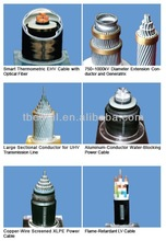High voltage XLPE different types of electrical cables