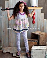 2014 SUMMER SWEET RUFFLE DRESS & LEGGINGS OUTFIT