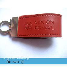 Popular leather usb flash drive get free samples 1gb~64gb pen drive