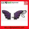 pvc custom butterfly usb memory 4g
