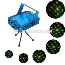 Mini R&G Laser Lighting Projector Portable DJ Disco Stage Light
