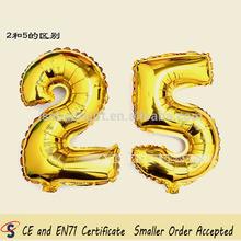 Giant Gold Foil Supershape Number Balloon, 100 pcs/lot