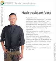 Soft Hack-resistant+Anti Cut Vest defensive for self security