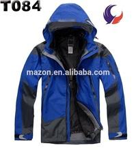 Brand 3 in 1 waterproof outdoor jacket men outdoor winter jacket T84
