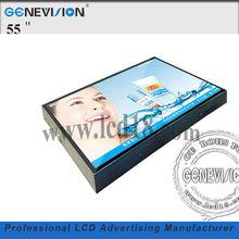 "wall mount lcd indoor 55"" digital signage uk lcd displays application (MG-550J)"