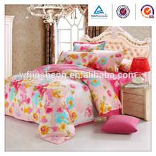 flower ocean printed bed linen flat sheet fitted sheet pillow sham fabric