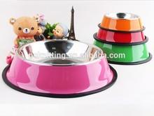 Supply Stainless Steel Pet Bowl Spray Paint Dog Bowl Wear Non-Slip Dog Bowl