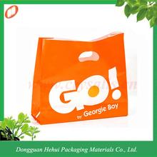 Heavy duty biodegradable HDPE die cut shopping bag