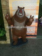 fiberglass bear sculpture ,life in size cartoon statue, amusement park with bear decor