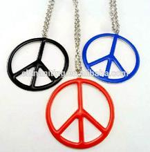 latest design fashion enamel flash peace symbol necklace