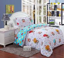 latest monkey printed kids cartoon bedding sets