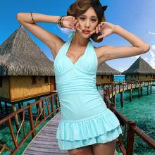 wholesale top quality one piece sexy bikini swimwear women swim dress