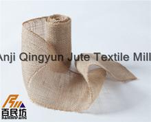 5 1/2 burlap ribbon natural color swen edge lowest price best quality