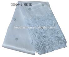 100 % silk george fabric in white