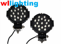 WLLIGHTING Factory supply 51w led work light best quality led driving light for truck atv suv