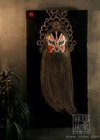Q585-73 Chinese Folk Art Peking Opera Facial Mask Home Wall Decoration