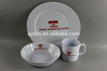 Melamine Plate/Salad Bowl/Mug Complete Dinner Set
