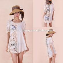 De lujo de algodón Guipure elegante blusas In Lace