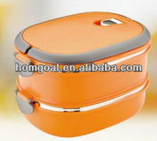 2014 new product kids lunch box two layers stainless steel lunch box