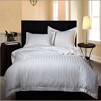 Hotel cotton polyester stripe bedding sheet sets fabric