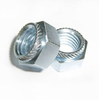 China manufacture processing blue zinc plated mild steel knurled self clinch nut m6