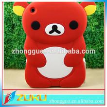Korea Style Bear shape soft Silicon case cover for Ipad mini