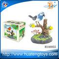 caliente la venta de juguetes de plástico de las aves de la batería operada canto de los pájaros de control de sonido de aves juguetes hablando loros para la venta h146855