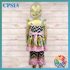 2014 6years girls birthday dresses baby dress with chevron pants set