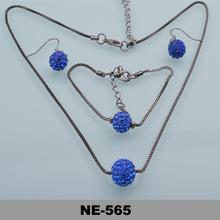 new fashion2014 mple drill string gun black ball chain Parure Jewelry