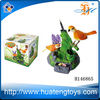 2014 plastic bird toys for kids battery operated singing bird talking parrot toy for sale sound control bird toys H146865